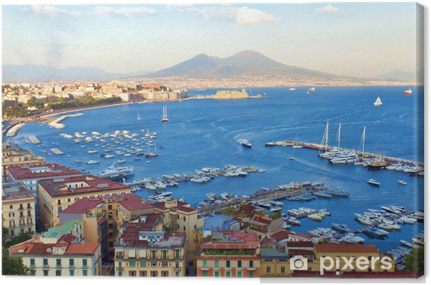 Tableau sur toile Vue sur la baie de Naples - iStaging