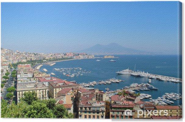 Tableau sur toile Vue sur la baie de Naples - Paysages urbains