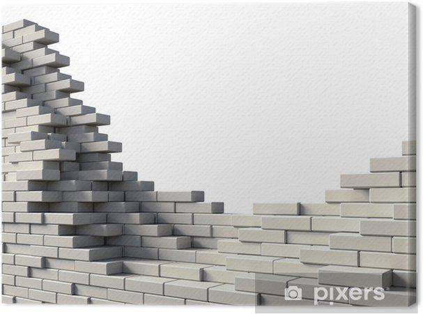 Tableau sur toile Wall brick - Industrie lourde