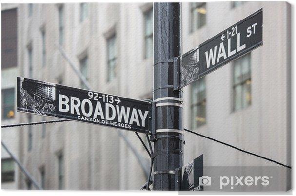 Tableau sur toile Wall street - Villes américaines