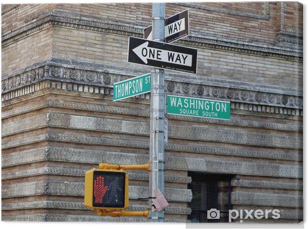 Tableau sur toile Washington square - Thompson Street. Une façon. - Villes américaines