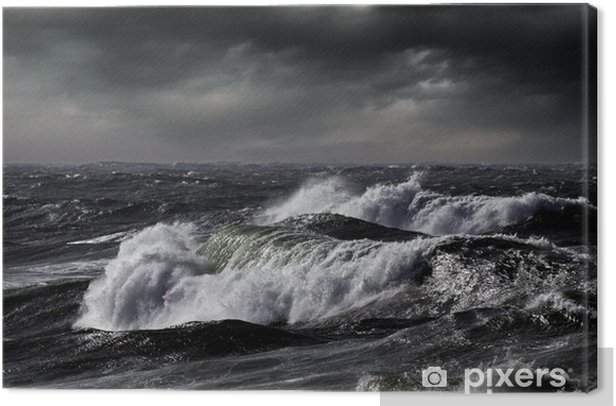 Tableau sur toile Waves - Eau