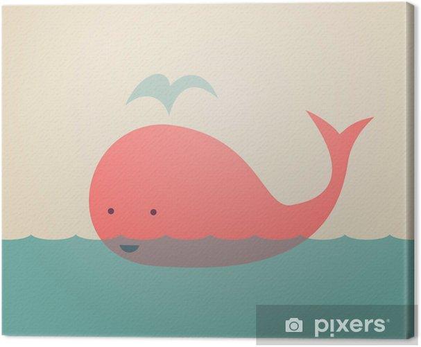 Tableau sur toile Whale Mignon - Thèmes