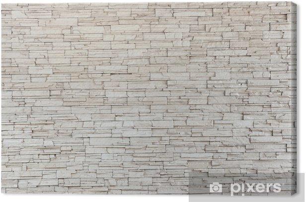 Tableau sur toile White Stone Tile Texture mur de briques - Styles