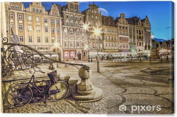 Tableau sur toile Wieczorem Wrocław Stare Miasto. - Thèmes