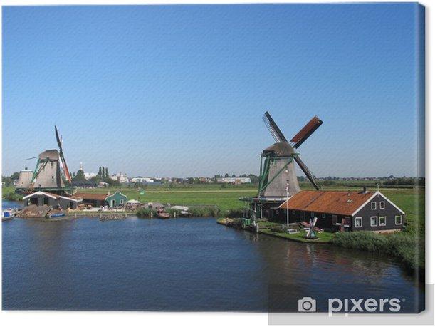 Tableau sur toile Windmühlen dans Zaanse (Hollande) - Europe