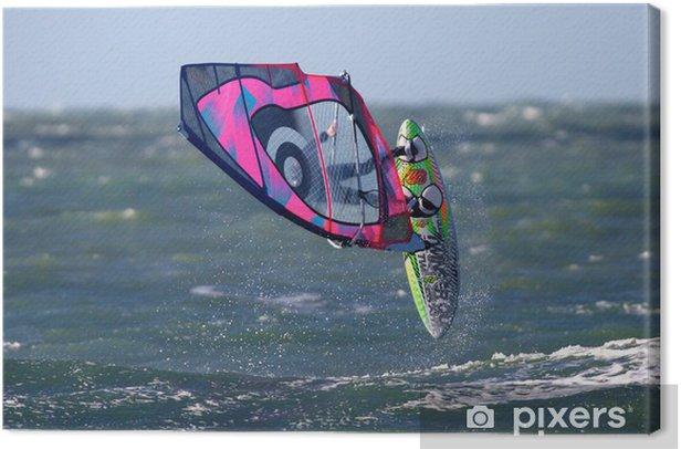 Tableau sur toile Windsurfeur. - Sports aquatiques