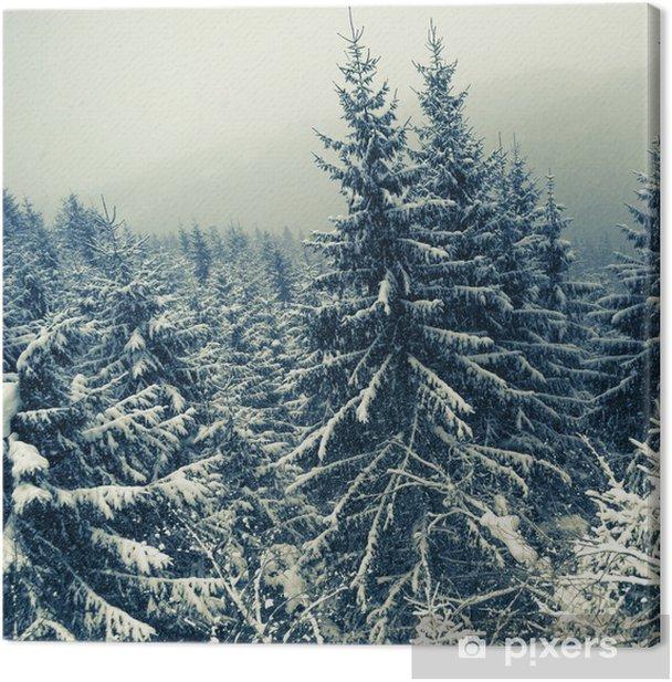 Tableau sur toile Winter forest - Saisons