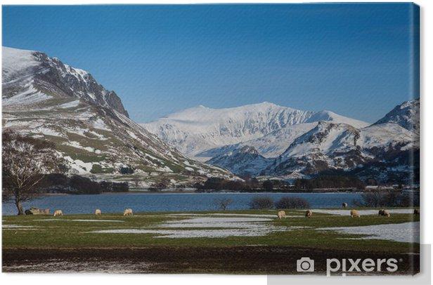 Tableau sur toile Winter White scènes enneigées autour de Snowdonia - Montagne