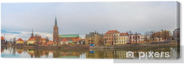 Tableau sur toile Wroclaw vieille ville panorama - Europe
