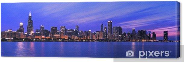 Tableau sur toile XXL - Famous Chicago Panorama - Thèmes