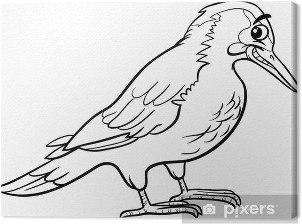 Coloriage Animaux Oiseaux.Tableau Sur Toile Yaffle Oiseau Coloriage Animaux Pixers Nous
