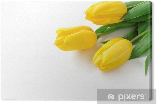 Tableau sur toile Yellow tulips - Évènements nationaux