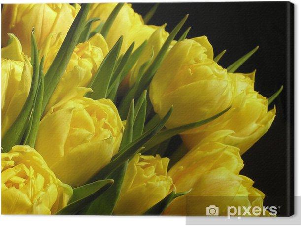 Tableau sur toile Yellow tulips - Thèmes