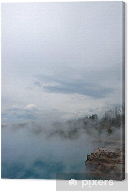 Tableau sur toile Yellowstone Geyser - Amérique