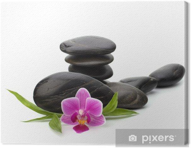 Tableau sur toile Zen équilibre de cailloux. Spa et le concept de soins de santé. - Beauté et soins du corps