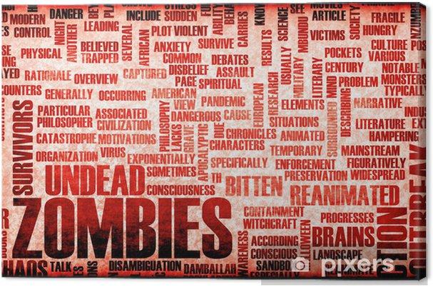Tableau sur toile Zombies - Thèmes