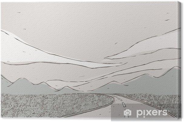 Tableau sur toile Zone avec la route - Campagne