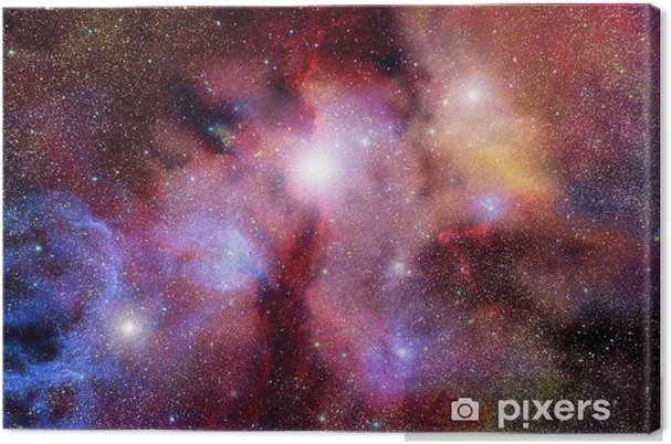 Tableau sur toile Zone stellaire avec des nébuleuses - Espace