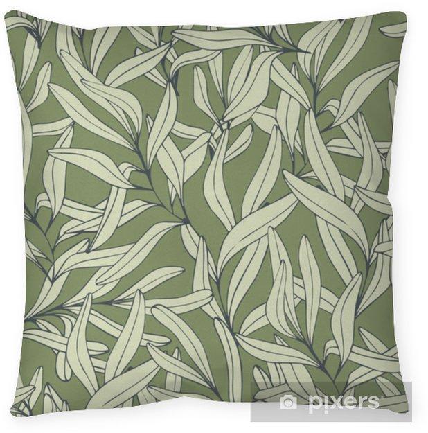 Taie d'oreiller Branches. dessin à main levée. modèle sans couture de vecteur - Plantes et fleurs
