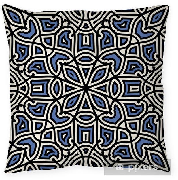 Taie d'oreiller Damassé, seamless, ornement géométrique -