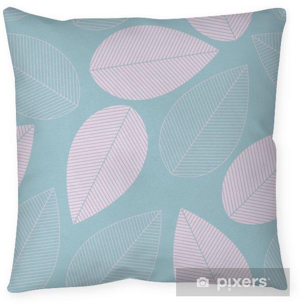 Taie d'oreiller Feuille transparente motif de couleur bleue et rose. - Ressources graphiques