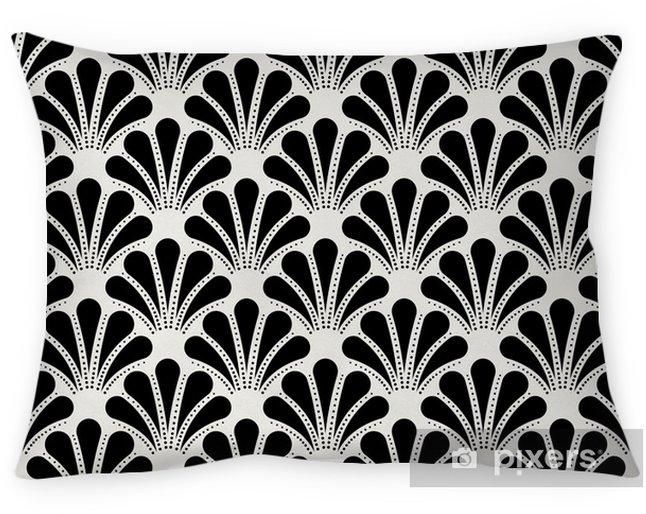 Taie d'oreiller Modèle sans couture vintage art déco. texture décorative de coquille géométrique. - Ressources graphiques