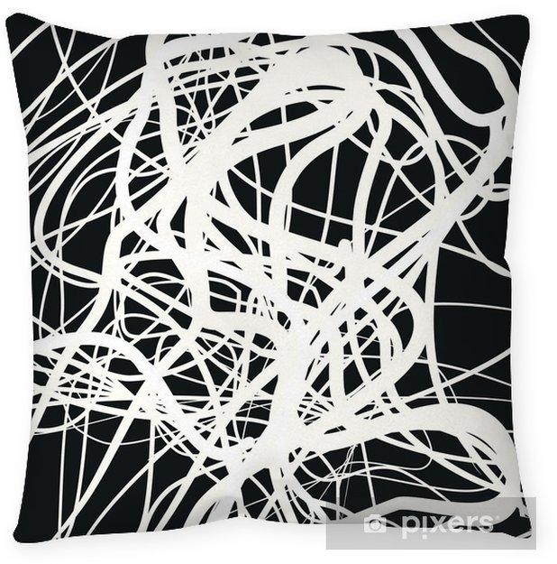Taie d'oreiller Plus de lignes, composition abstraite, fond abstrait, une formes d'enchevêtrement, art de conception de vecteur - Ressources graphiques