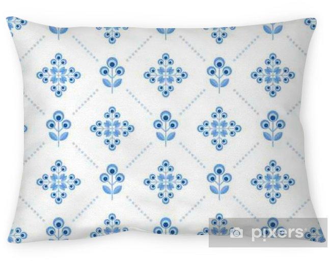 Taie d'oreiller Seamless floral pattern avec des fleurs géométriques - Ressources graphiques