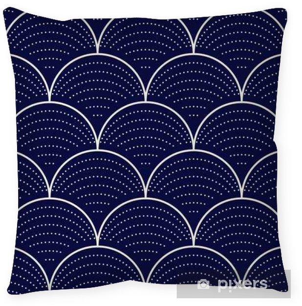 Taie d'oreiller Vague japonaise seamless, illustration vectorielle - Ressources graphiques