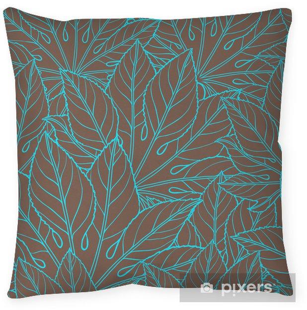 Taie d'oreiller Vector illustration de feuilles. (Seamless) - Fleurs