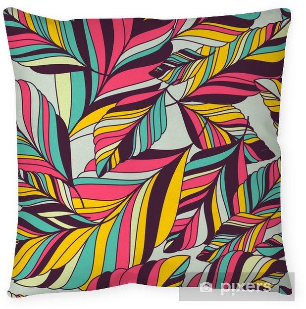 Taie d'oreiller Vector seamless pattern avec la main multicolore dessinée décoratif le - Automne