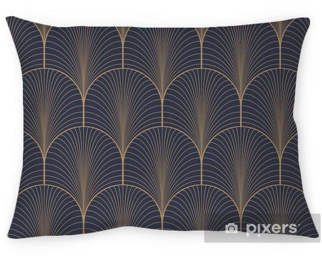 Taie d'oreiller Vintage seamless art déco motif de papier peint vecteur bleu et brun tan - Ressources graphiques