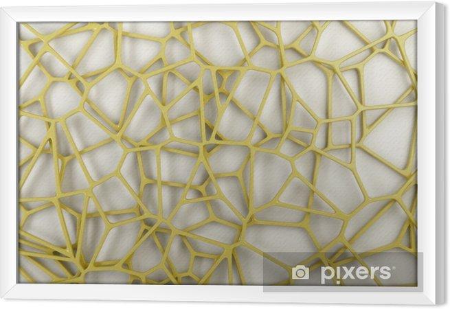 Tavla i Ram Abstrakt 3d galler på vit bakgrund
