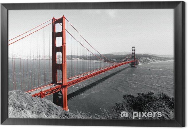 Tavla i Ram Golden Gate-bron röd Pop på B - iStaging