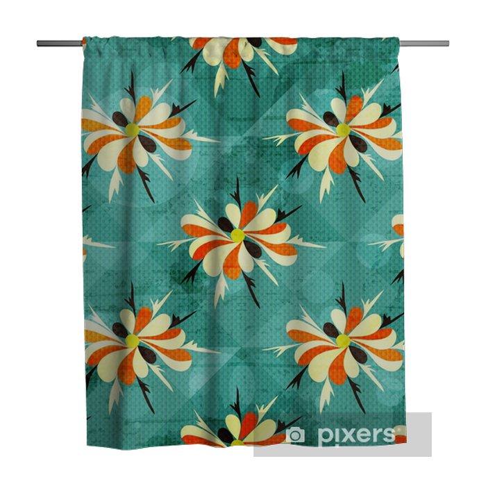 Tenda da doccia Bellissimi fiori colorati astratto modello senza saldatura - Risorse Grafiche