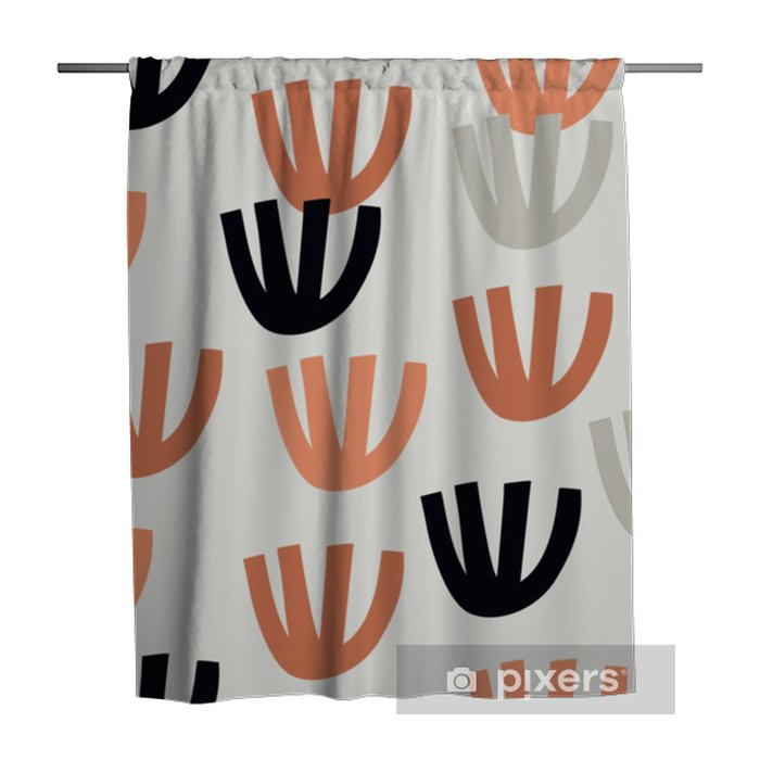 Tenda da doccia Seamless con moderni elementi floreali e astratti in freschi colori pastello. - Hobby e Tempo Libero