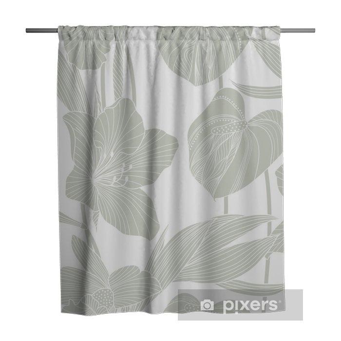 Tenda da doccia Seamless pattern floreale - Risorse Grafiche