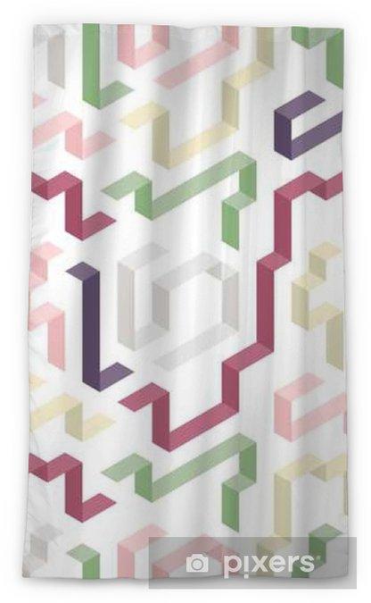 Tenda trasparente per finestre Modello di colore forma geometrica - Risorse Grafiche
