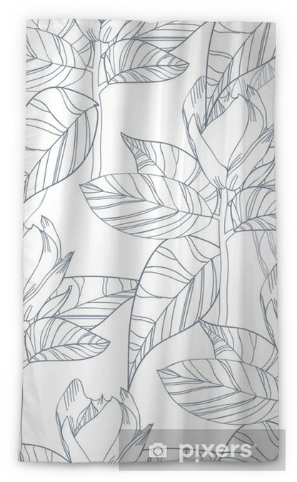 Tenda trasparente per finestre Struttura floreale - Sfondi