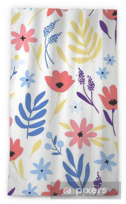 Tenda trasparente per finestre Vector motivo floreale con fiori e foglie. - Piante & Fiori