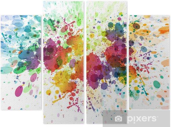 Tetraptych Rastr verze Abstraktní barevné pozadí úvodní - Koníčky a volný čas
