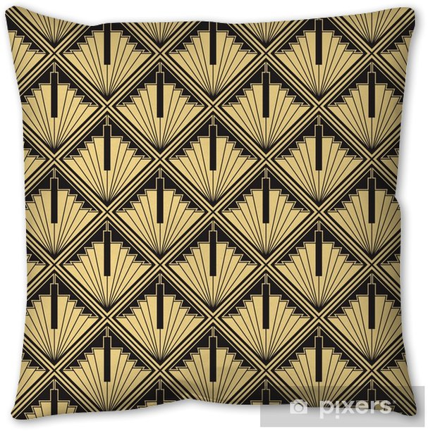 Abstract art deco Throw Pillow - Graphic Resources