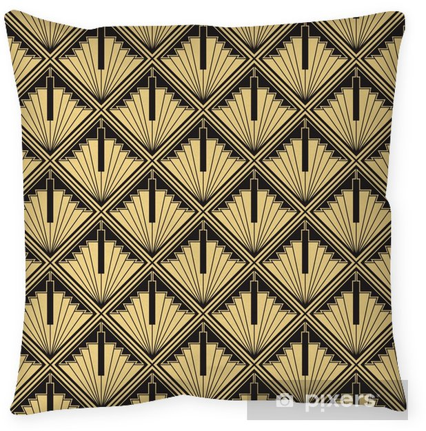 Art Deco Throw Pillows.Abstract Art Deco Throw Pillow