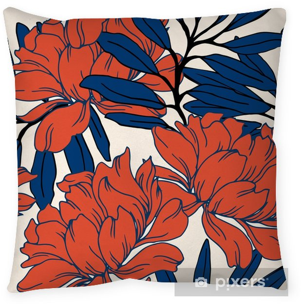 Abstract elegance pattern with floral background. Throw Pillow - Plants and Flowers