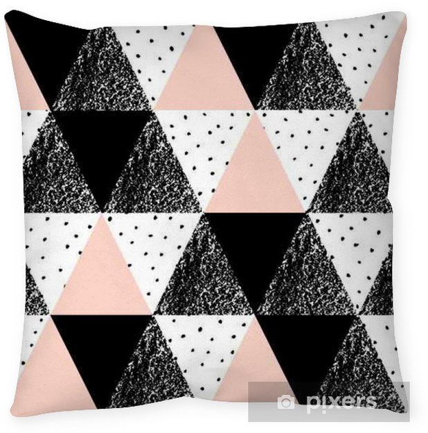 Abstract Geometric Pattern Throw Pillow - Graphic Resources