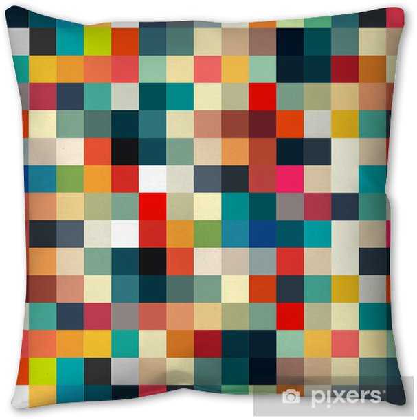 Abstract geometric retro pattern seamless for your design Throw Pillow - Styles