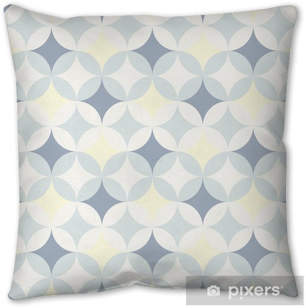 abstract retro geometric pattern Throw Pillow - Backgrounds