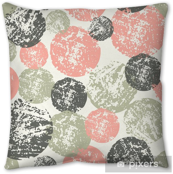 Abstract Round Shapes Seamless Pattern Throw Pillow - Graphic Resources