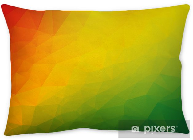 Abstract Triangular Red Yellow Green Background Throw Pillow